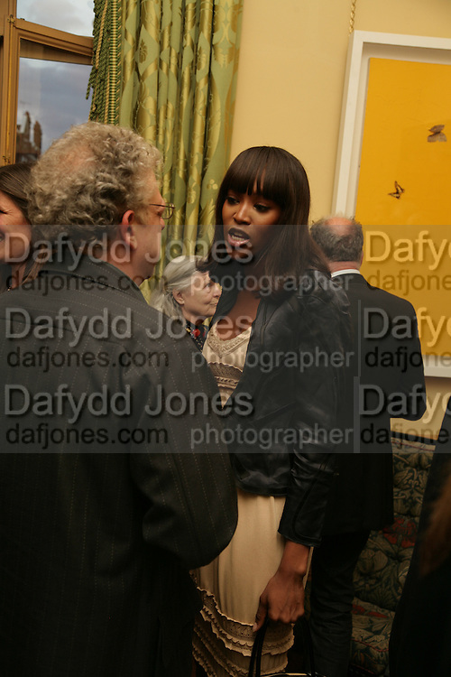 Naomi Campbell, Party for Jean Pigozzi hosted by Ivor Braka to thank him for the loan exhibition 'Popular Painting' from Kinshasa'  at Tate Modern. Cadogan sq. London. 29 May 2007.  -DO NOT ARCHIVE-© Copyright Photograph by Dafydd Jones. 248 Clapham Rd. London SW9 0PZ. Tel 0207 820 0771. www.dafjones.com.