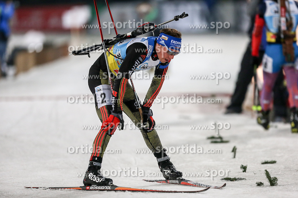 28.12.2015, Veltins Arena, Gelsenkirchen, GER, IBU Weltcup Biathlon, auf Schalke, im Bild Simon Schempp (Deutschland/GER) // during the IBU Biathlon World Cup at Veltins Arena in Gelsenkirchen, Germany on 2015/12/28. EXPA Pictures &copy; 2015, PhotoCredit: EXPA/ Eibner-Pressefoto/ Kohring<br /> <br /> *****ATTENTION - OUT of GER*****