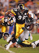 PITTSBURGH - SEPTEMBER 7:  Running back Willie Parker #39 of the Pittsburgh Steelers runs the ball against the Miami Dolphins at Heinz Field on September 7, 2006 in Pittsburgh, Pennsylvania. The Steelers defeated the Dolphins 28-17. ©Paul Anthony Spinelli *** Local Caption *** Willie Parker