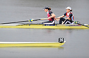 Hazewinkel. BELGUIM, GBR W2- Bow Alice `FREEMAN and Carla ASHFORD, during the finals of the  2008 GB Rowing Trials, at the Bloso Rowing Course, 09/03/2008. [Mandatory Credit, Peter Spurrier/Intersport-images] Rowing Course, Bloso, Hazewinkel. BELGUIM