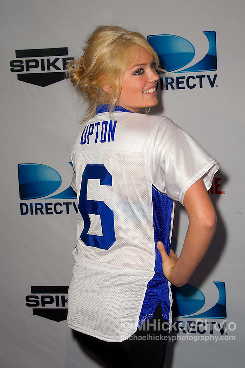 Model Kate Upton seen on the red carpet before the Directv Celebrity Beach Bowl at Victory Field in Indianapolis, Indiana.