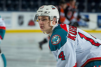 KELOWNA, CANADA - JANUARY 30: Wil Kushniryk #14 of the Kelowna Rockets warms up against the Medicine Hat Tigers on January 30, 2017 at Prospera Place in Kelowna, British Columbia, Canada.  (Photo by Marissa Baecker/Shoot the Breeze)  *** Local Caption ***