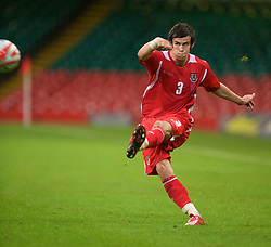 CARDIFF, WALES - Friday, September 5, 2008: Wales' Gareth Bale in action against Azerbaijan during the opening 2010 FIFA World Cup South Africa Qualifying Group 4 match at the Millennium Stadium. (Photo by David Rawcliffe/Propaganda)