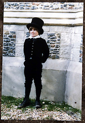 Max Dolbey was picked to star in the lead of American TV/film version of David Copperfield. Max Dolbey 10 .(trousers), photographed here during in character, during filming, May 16, 2000. Photo by Andrew Parsons / i-images..