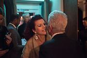CLEO ROCOS, NICKY HASLAM,  Nicky Haslam hosts dinner at  Gigi's for Leslie Caron. 22 Woodstock St. London. W1C 2AR. 25 March 2015