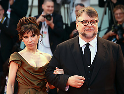 Guillermo del Toro and Sally Hawkins walks the red carpet ahead of the 'The Shape Of Water' screening during the 74th Venice Film Festival in Venice, Italy, on August 31, 2017. (Photo by Matteo Chinellato/NurPhoto/Sipa USA)