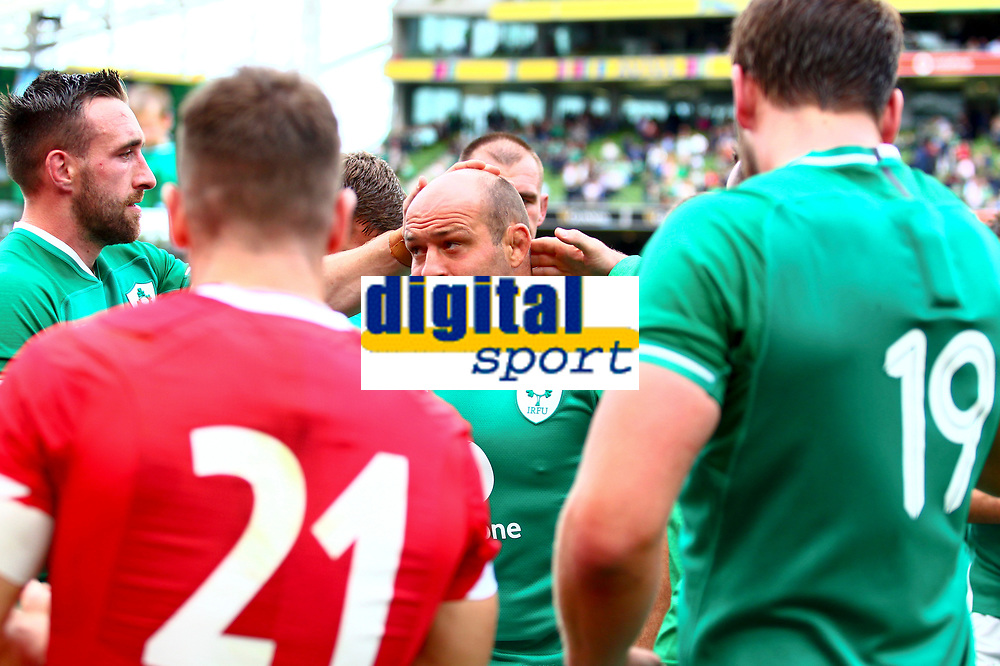 Rugby Union - 2019 pre-Rugby World Cup warm-up (Guinness Summer Series) - Ireland vs. Wales<br /> <br /> Rory Best (c) (Ireland) at the end of the game at The Aviva Stadium.<br /> <br /> COLORSPORT/KEN SUTTON