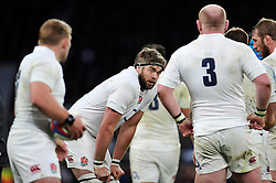 Geoff Parling of England - Photo mandatory by-line: Patrick Khachfe/JMP - Mobile: 07966 386802 14/03/2015 - SPORT - RUGBY UNION - London - Twickenham Stadium - England v Scotland - Six Nations Championship
