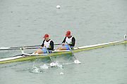 Munich, GERMANY.  SLO M2X Bow Luka SPIK and Jan SPIK. 2010 FISA World Cup. Olympic Rowing Course, Munich.  Saturday  19/06/2010   [Mandatory Credit Peter Spurrier/ Intersport Images]