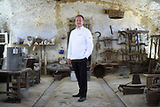 Gregor Zimmermann, Chef in charge of official receptions in Switzerland, poses for a portrait in the Cascina Colombara during the annual meeting of the Club des Chefs des Chefs in Livorno Ferraris, Vercelli, Italy, July 18, 2015.<br /> The Club des Chefs des Chefs, which is seen as the world's most exclusive gastronomic society, has extremely strict membership criteria: to be accepted into this highly elite club, you need to be the current personal chef of a head of state. If he or she does not have a personal chef, members can be the executive chef of the venue that hosts official State receptions. One of the society's primary purposes is to promote major culinary traditions and to protect the origins of each national cuisine. The Club des Chefs des Chefs also aims to develop friendship and cooperation between its members, who have similar responsibilities in their respective countries. <br /> The annual meeting of the Club has been hosted this year in the production site of the Italian rice company called Riso Acquerello. <br /> © Giorgio Perottino