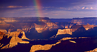 Rainbow at Sunrise (South rim) at Grand Canyon, Coconino Co, AZ, USA, on 14-Mar-06