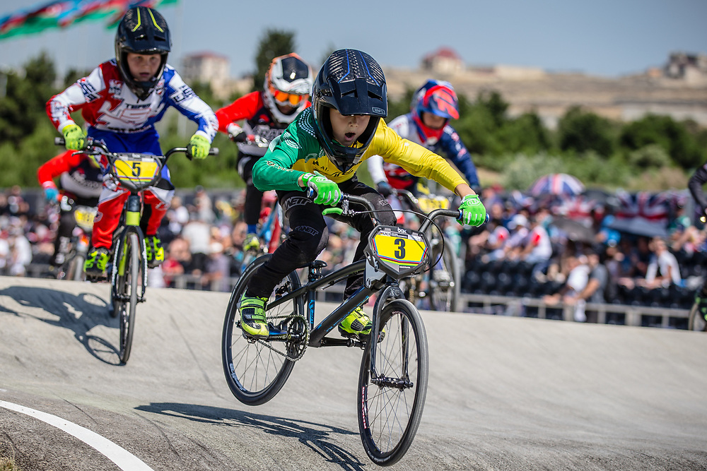 10 Boys #3 (GATT Cameron) AUS at the 2018 UCI BMX World Championships in Baku, Azerbaijan.