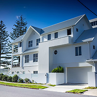 Large house on the beach at Miami on the gold coast of Australia