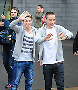 22.OCTOBER.2012. DONCASTER<br /> <br /> HARRY STYLES, NIALL HORAN AND LIAM PAYNE ARRIVE AT THE KEEPMOAT STADIUM IN DONACSTER FOR A CHARITY FOOTBALL MATCH TO SUPPORT FELLOW BAND MEMBER LOUIS TOMLINSON AS HE PLAYS FOR HIS LOCAL TEAM IN AID OF BLUEBELL HOSPICE FOR KIDS.<br /> <br /> BYLINE: EDBIMAGEARCHIVE.CO.UK<br /> <br /> *THIS IMAGE IS STRICTLY FOR UK NEWSPAPERS AND MAGAZINES ONLY*<br /> *FOR WORLD WIDE SALES AND WEB USE PLEASE CONTACT EDBIMAGEARCHIVE - 0208 954 5968*