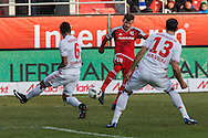 Pascal Gross of FC Ingolstadt 04 scores their first goal against Hamburger SV during the Bundesliga match at Audi Sportpark, Ingolstadt<br /> Picture by EXPA Pictures/Focus Images Ltd 07814482222<br /> 28/01/2017<br /> *** UK & IRELAND ONLY ***<br /> <br /> EXPA-EIB-170128-1296.jpg