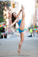 Streets of New York City Dance As Art Photography Project in Tribeca featuring dancer, Lindsey Horrigan
