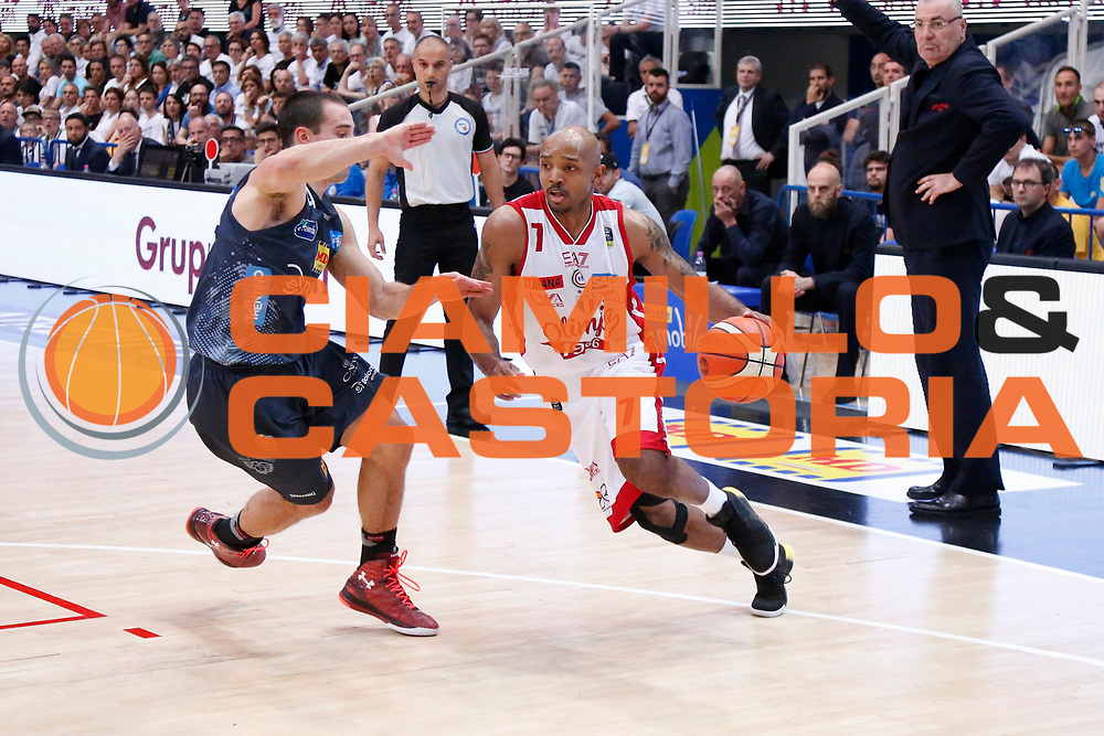 Hickman Richard<br /> Dolomiti Energia Aquila Basket Trento - EA7 Emporio Armani Olimpia Milano<br /> Semifinale Gara 4, Lega Basket Serie A 2016/2017<br /> PalaTrento 31/05/2017<br /> Foto Ciamillo-Castoria / M.Brondi