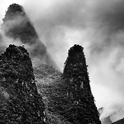 The karst limestone peaks of the Yangshao region of China.