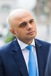 London, October 22 2017. Communities and Local Government Secretary Sajid Javid after appearing on the Andrew Marr show at the BBC New Broadcasting House in London. © Paul Davey