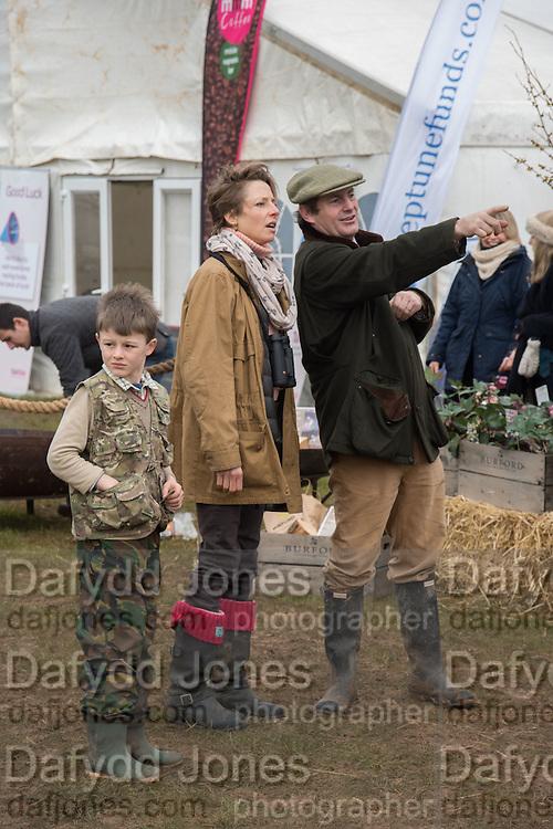 ORLANDO MAYNARD; GRANIA MAYNARD; CHARLIE BROOKS, The Heythrop Hunt Point to Point. Cocklebarrow. 24 January 2016