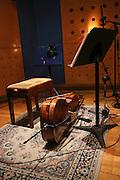Cello in a recording studio