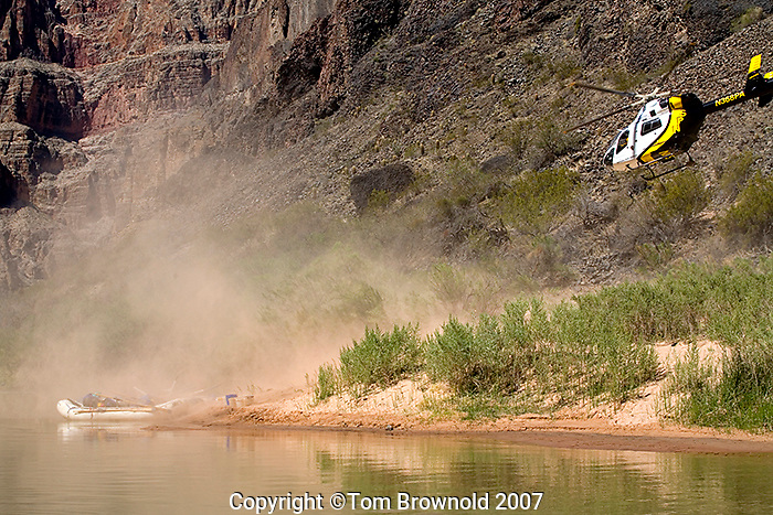 NPS medical evacuation below Lava Falls on the Colorado river