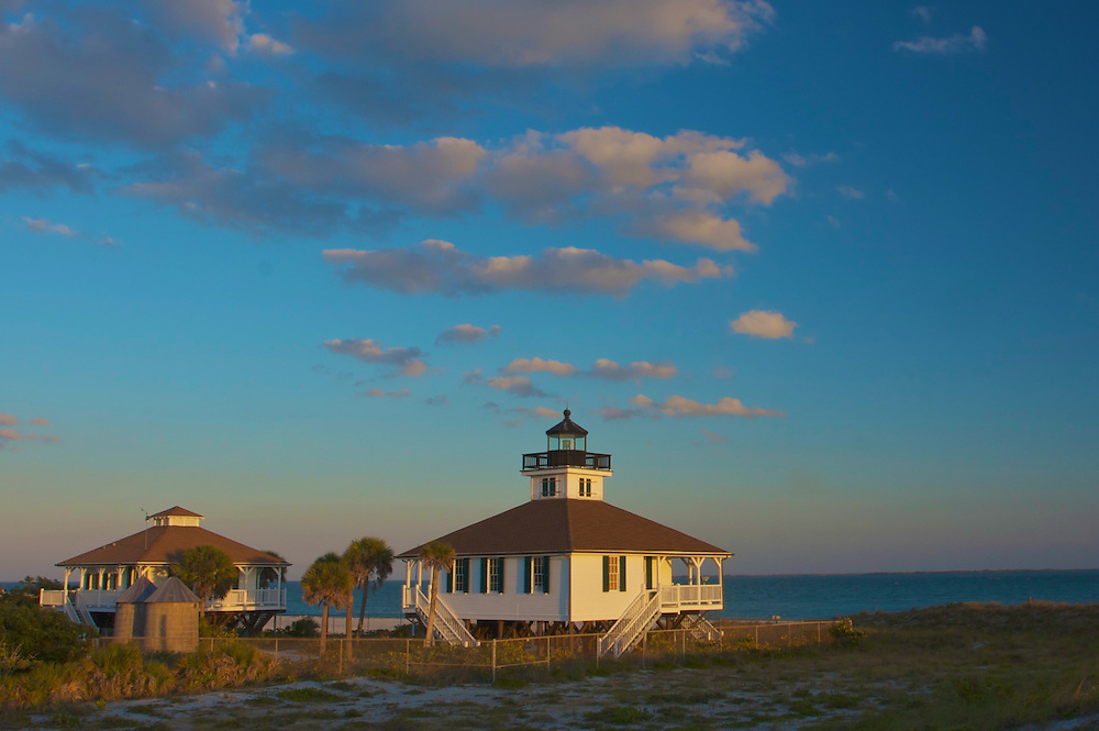 Old Port Boca Grande Lighthouse, built in 1890, sits at the south end of Gasparilla Island. It is rumored to haunted by the ghosts of a young girl and a Spanish princess that was beheaded by pirate Jose Gaspar.