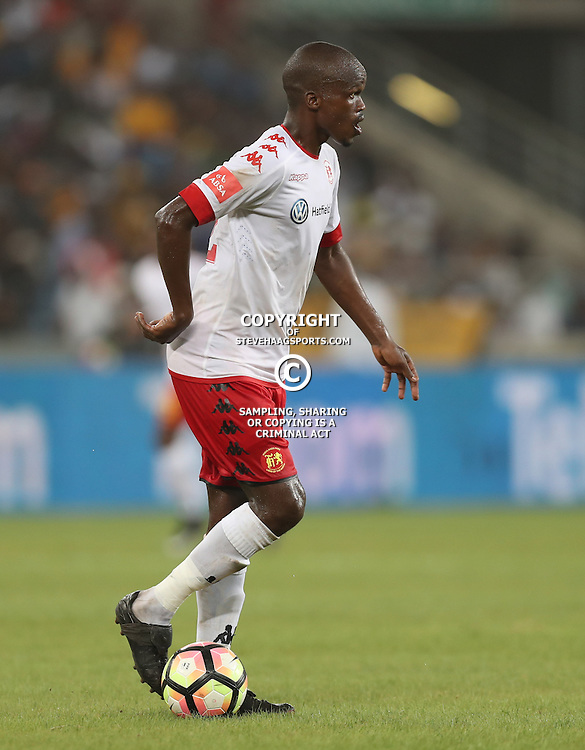 DURBAN, SOUTH AFRICA - FEBRUARY 18: Zamuxolo Ngalo of Highlands Park during the Absa Premiership match between Kaizer Chiefs and Highlands Park at Moses Mabhida Stadium on February 18, 2017 in Durban, South Africa. (Photo by Steve Haag/Gallo Images)