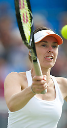LIVERPOOL, ENGLAND - Friday, June 17, 2011: Martina Hingis (SUI) in action during day two of the Liverpool International Tennis Tournament at Calderstones Park. (Pic by David Rawcliffe/Propaganda)