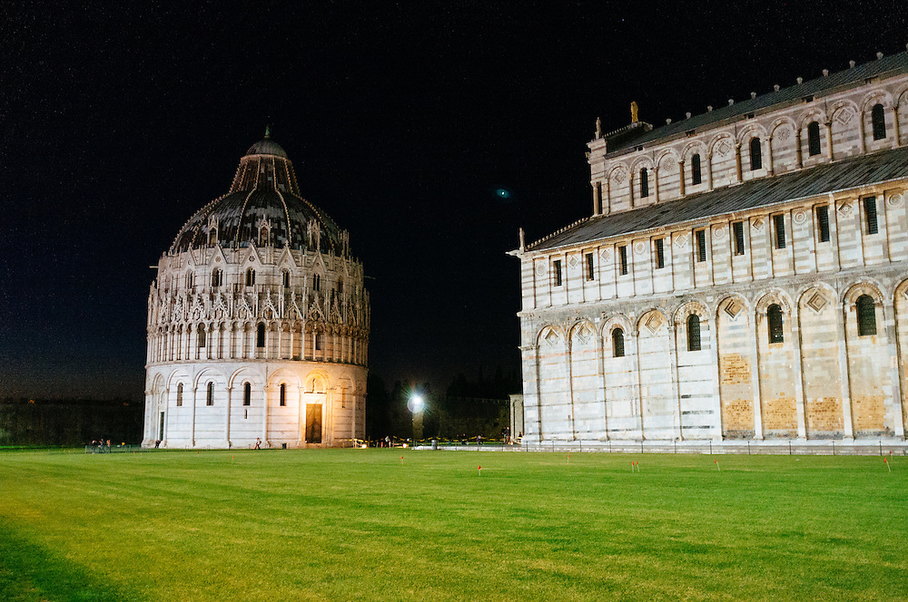 The Baptistery in the Piazza del Duomo in Pisa, Italy