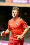 James Berrett before the Friendly match between York City and Sheffield Wednesday at Bootham Crescent, York, England on 18 July 2015. Photo by Simon Davies.
