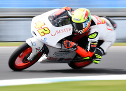October 20, 2017 - Melbourne, Victoria, Australia - Spanish rider Marcos Ramirez (#42) of Platinum Bay Real Estate in action during the second free practice session at the 2017 Australian MotoGP at Phillip Island, Australia. (Credit Image: © Theo Karanikos via ZUMA Wire)