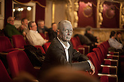 "Prof. Vladimír Franz at the Prague National Opera during the final rehearsal of his new opera ""War with the Newts"" (by Karel Capek). Franz is a prominent Czech composer and painter, stage music author and also a registered candidate in the 2013 Czech presidential election."