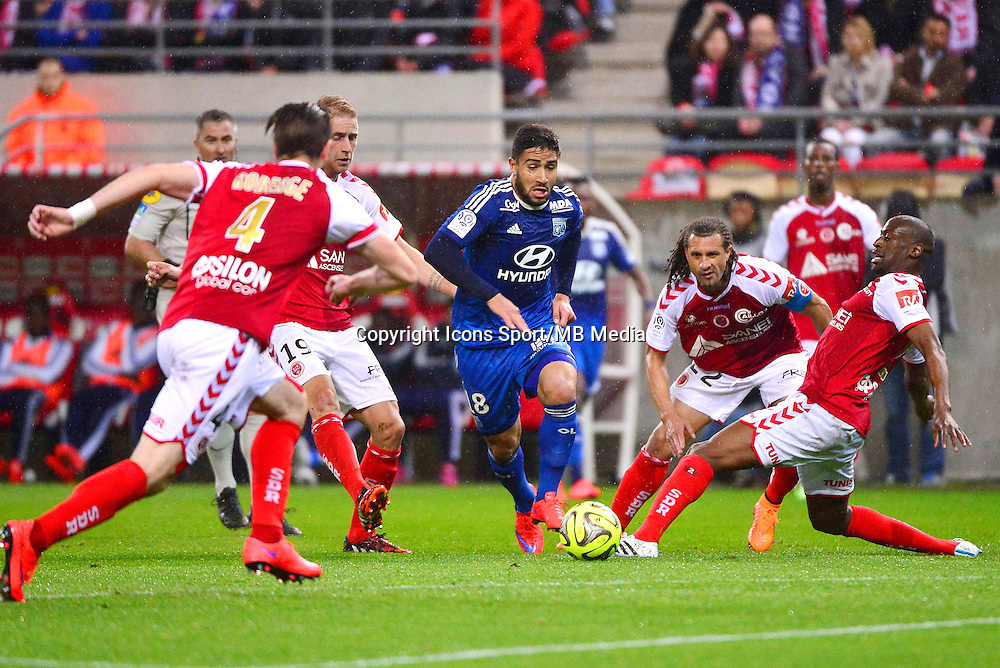 Nabil FEKIR - 26.04.2015 - Reims / Lyon - 34eme journee de Ligue 1<br /> Photo : David Winter / Icon Sport