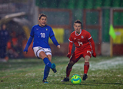CESENA, ITALY - Tuesday, January 22, 2019: Italy's Christiana Girelli during the International Friendly between Italy and Wales at the Stadio Dino Manuzzi. (Pic by David Rawcliffe/Propaganda)