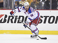 9 May 2014 New York Rangers Right Wing Mats Zuccarello 36 Skates with The Puck during The First Period The New York Rangers staved Off Elimination in Game Five with A 5 1 Victory Against The Pittsburgh Penguins AT The  Energy Center in Pittsburgh Pennsylvania NHL Ice hockey men USA May 09 Stanley Cup Playoffs Second Round Rangers AT Penguins Game 5 <br />