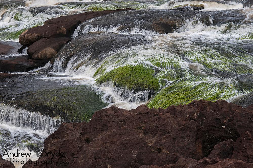 Small rapids above the waterfall. Potaro River, Guyana.