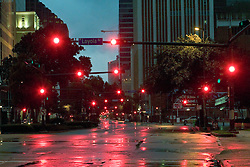 28th August, 2005. Hurricane Katrina, New Orleans, Louisiana. The eerily deserted streets of downtown New Orleans just hours before the devastating storm changed things forever.