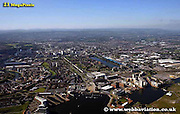 aerial photograph of Cardiff Wales  UK