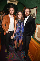 Left to right, Mark Barton, Rosanna Falconer and Craig McGinlay at the Annabel's Bright Young Things Party held at Annabel's, 44 Berkeley Square, London England. 16 February 2017.