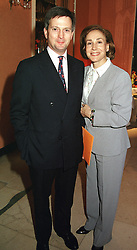 MR EDDIE EDMONSTONE and MISS DEBORAH BENNETT<br />  at a reception in London on 26th April 2000.ODB 208