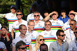 Italian fans during the Men's Elite Road Race at the UCI Road World Championships on September 25, 2011 in Copenhagen, Denmark. (Photo by Marjan Kelner / Sportida Photo Agency)