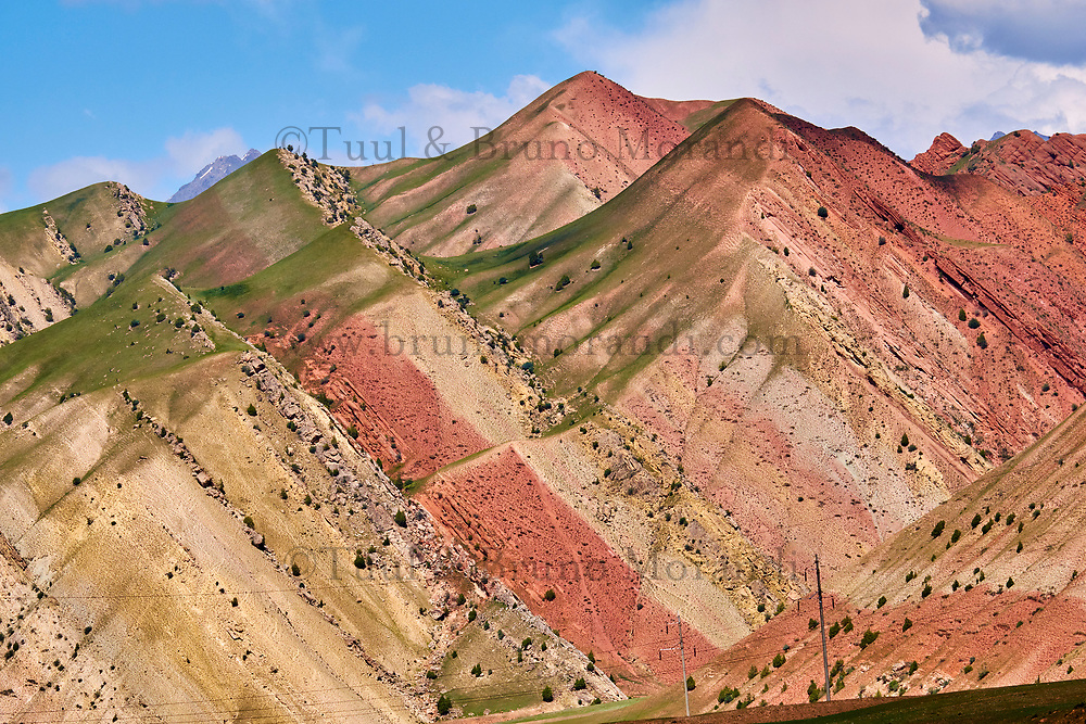 Kirghizistan, province de Osh, paysage sur la Route du Pamir // Kyrgyzstan, Osh province, the landscape on the Pamir Highway