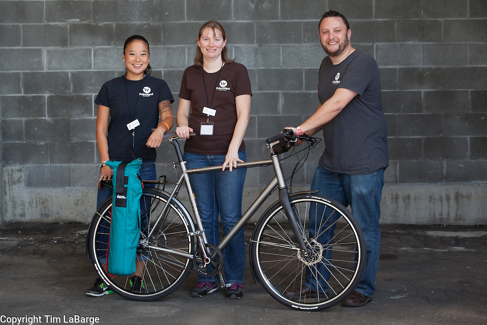 Point West Community Credit Union at the Handmade Bike and Beer Festival at Hopworks Urban Brewery in Portland, Oregon. Image by Tim LaBarge