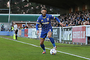 Callum Kennedy defender for AFC Wimbledon (3) in action during the Sky Bet League 2 match between AFC Wimbledon and Portsmouth at the Cherry Red Records Stadium, Kingston, England on 26 April 2016. Photo by Stuart Butcher.