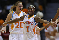 November 15,2010: Tennessee Lady Vols guard Briana Bass (1) celebrates during the game against Chattanooga at Thompson Boling Arena in Knoxville, Tennessee. The Lady Vols won their season opener by a score of 103 to 43.