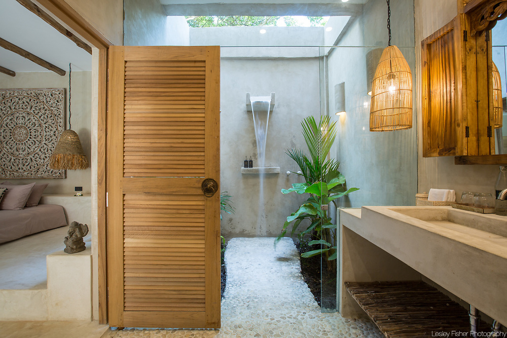 Bathroom of pool villa at Karma Beach Resort. A Beach resort located on Bophut Beach, Koh Samui, Thailand