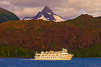 Lindblad Expeditions' MV Sea Bird sailing throught the Frederick Sound, Inside Passage, Southeast Alaska