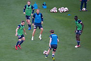 SYDNEY, NSW - JANUARY 12: Melbourne Victory warms up prior to the match at the Hyundai A-League Round 13 soccer match between Melbourne Victory and Newcastle Jets at AAMI Park in VIC, Australia 12 January 2019. (Photo by Speed Media/Icon Sportswire)