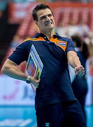 18-05-2016 JAP: OKT Nederland - Dominicaanse Republiek, Tokio<br /> Nederland is weer een stap dichterbij kwalificatie voor de Olympische Spelen. Dit dankzij een 3-0 overwinning op de Dominicaanse Republiek / Coach Giovanni Guidetti